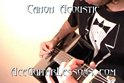 Acoustic Canon Guitar Chords Melody